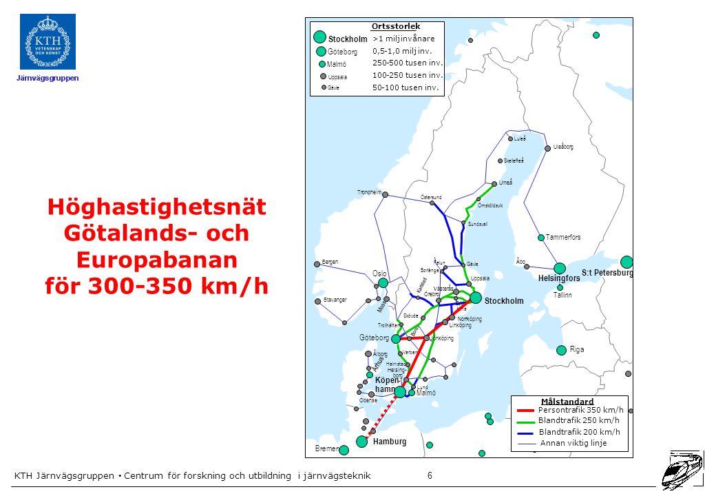 Höghastighetsnät Götalands- och Europabanan för 300-350 km/h