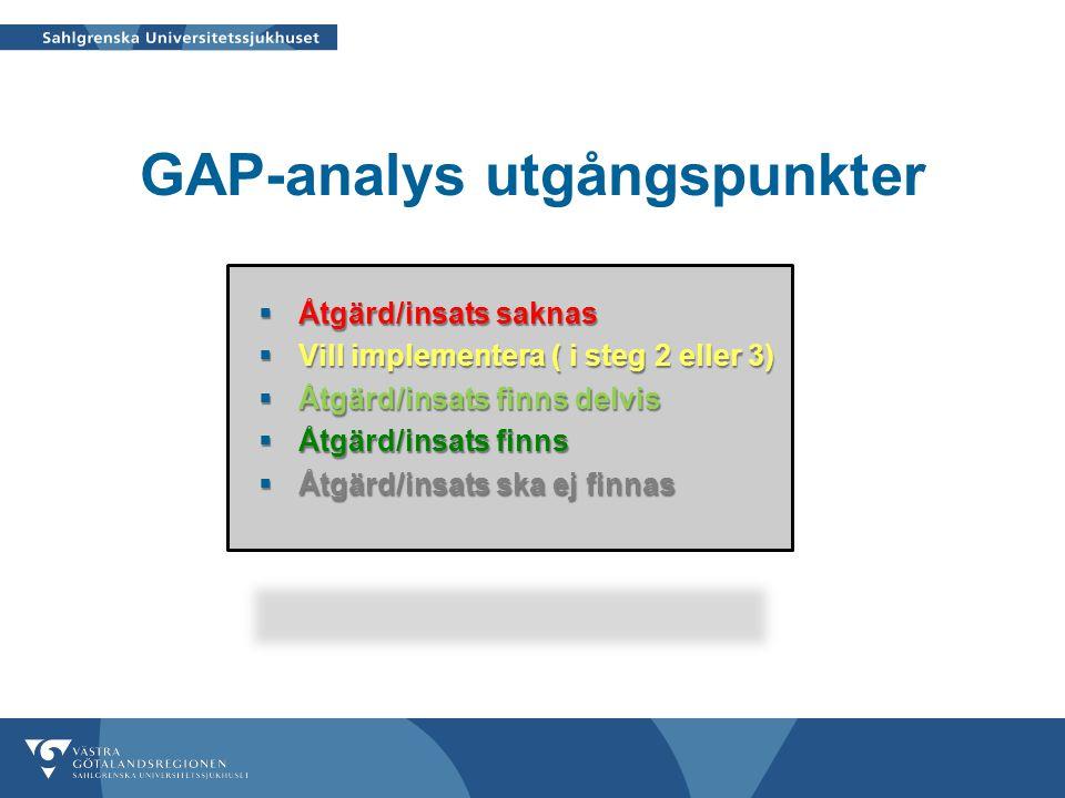 GAP-analys utgångspunkter