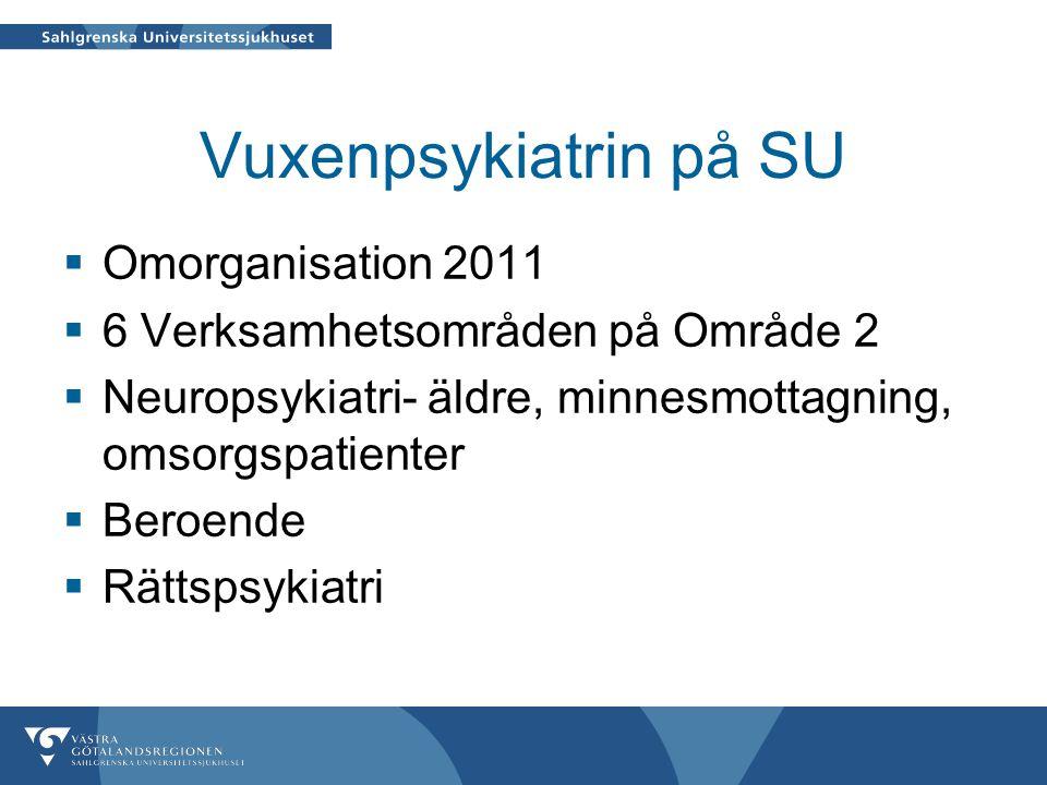 Vuxenpsykiatrin på SU Omorganisation 2011