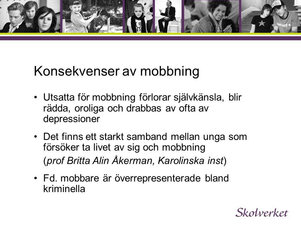 Konsekvenser av mobbning