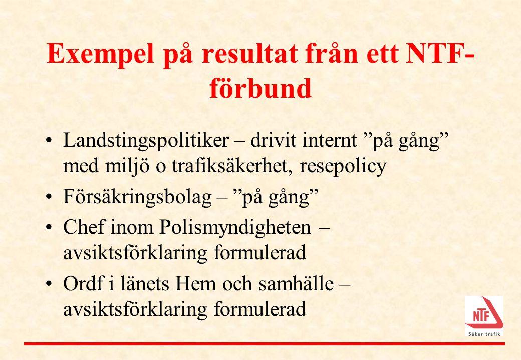 Exempel på resultat från ett NTF-förbund