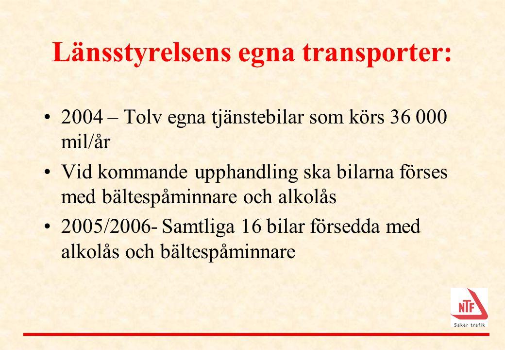 Länsstyrelsens egna transporter: