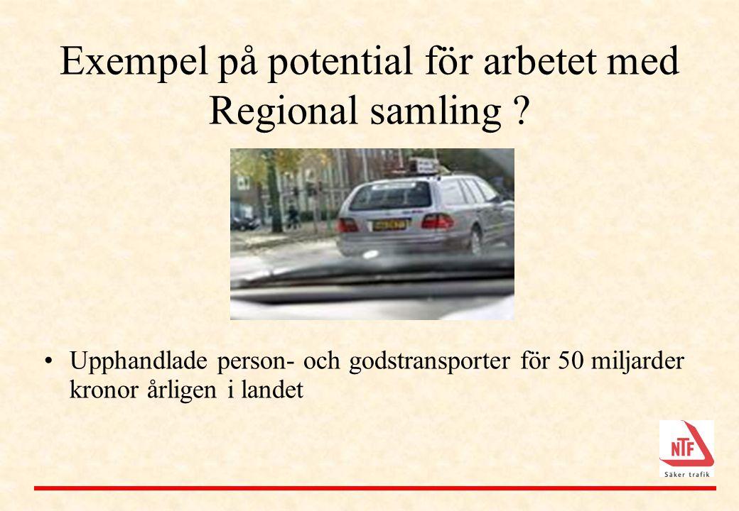 Exempel på potential för arbetet med Regional samling