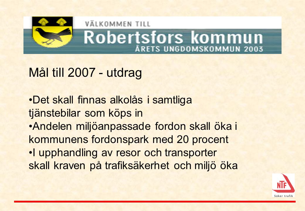 Robertsfors Mål till 2007 - utdrag