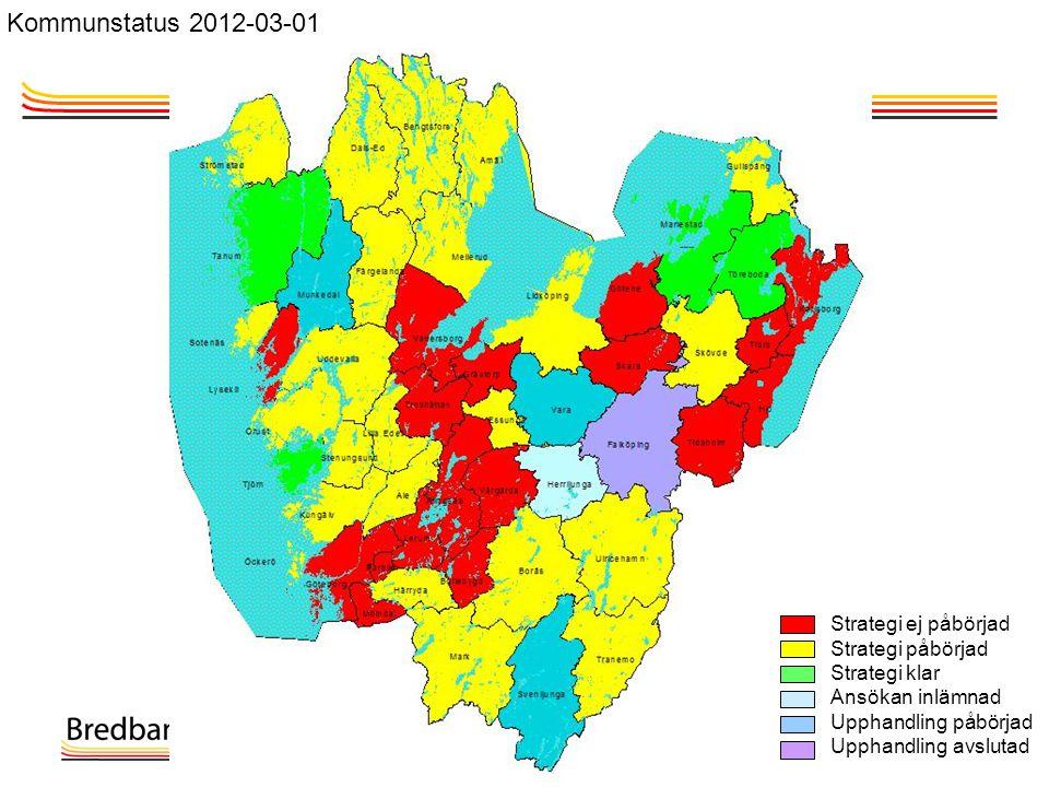 Kommunstatus 2012-03-01 Strategi ej påbörjad Strategi påbörjad
