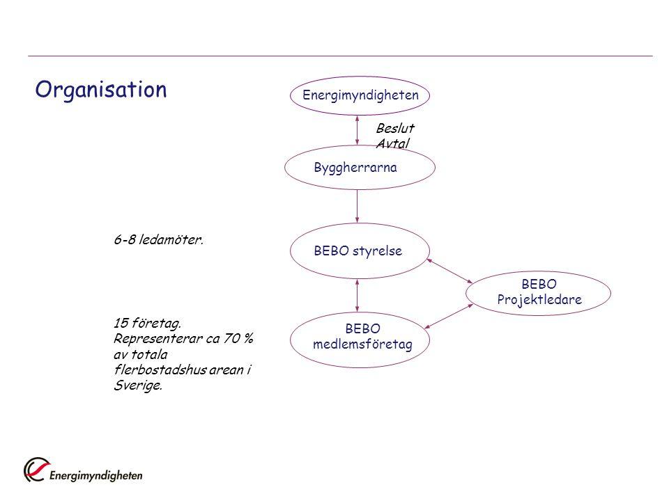 Organisation Energimyndigheten BeslutAvtal Byggherrarna 6-8 ledamöter.