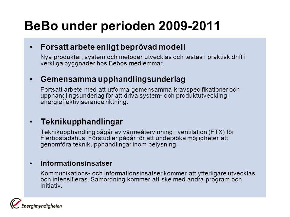 BeBo under perioden 2009-2011 Forsatt arbete enligt beprövad modell