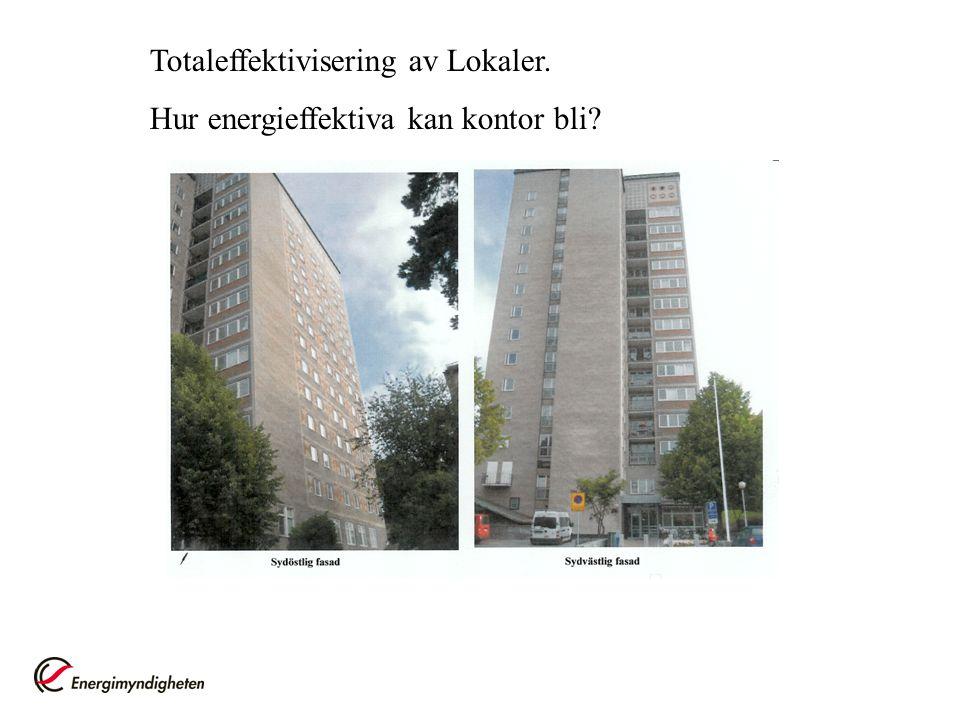 Totaleffektivisering av Lokaler.