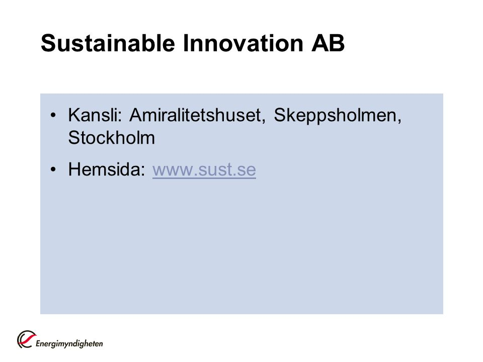 Sustainable Innovation AB