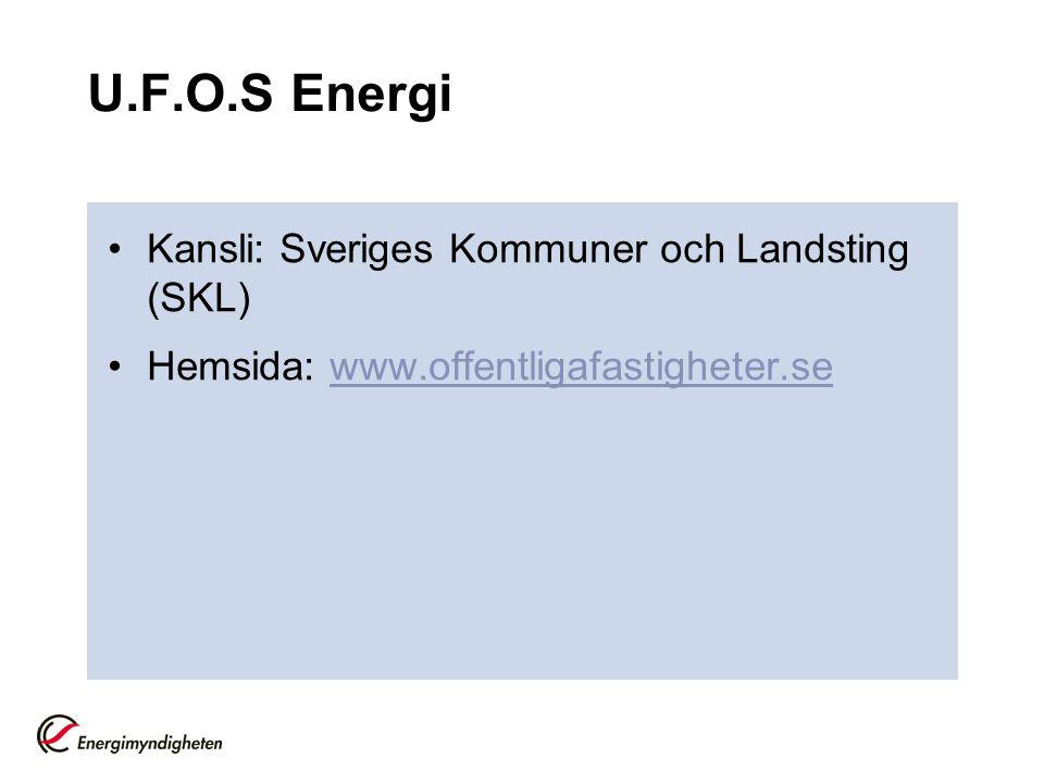 U.F.O.S Energi Kansli: Sveriges Kommuner och Landsting (SKL)