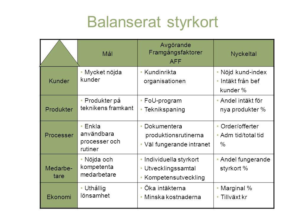 Avgörande Framgångsfaktorer