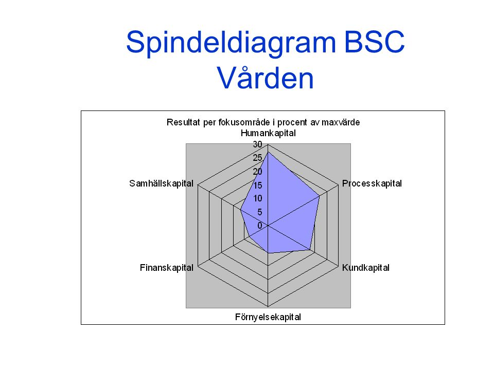 Spindeldiagram BSC Vården