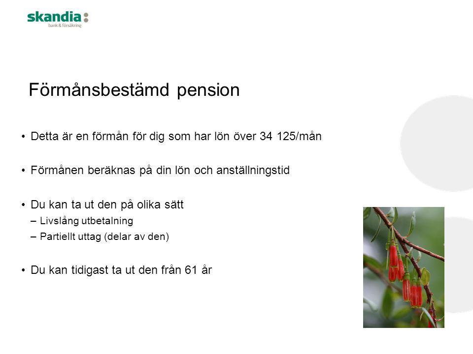 Förmånsbestämd pension
