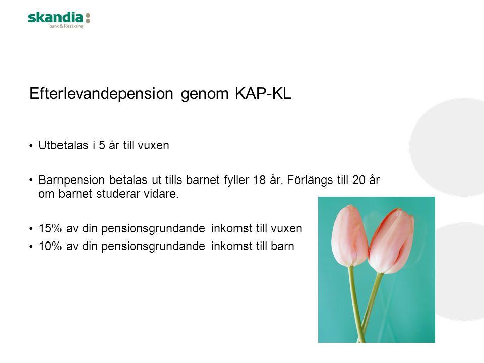 Efterlevandepension genom KAP-KL
