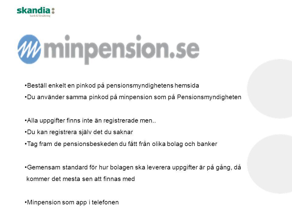 Beställ enkelt en pinkod på pensionsmyndighetens hemsida