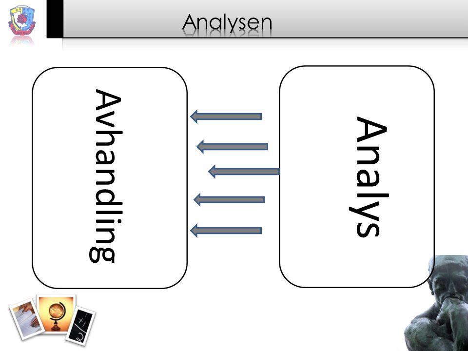Analysen Analys Avhandling