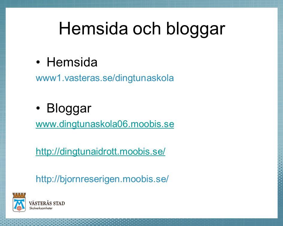 Hemsida och bloggar Hemsida Bloggar www1.vasteras.se/dingtunaskola