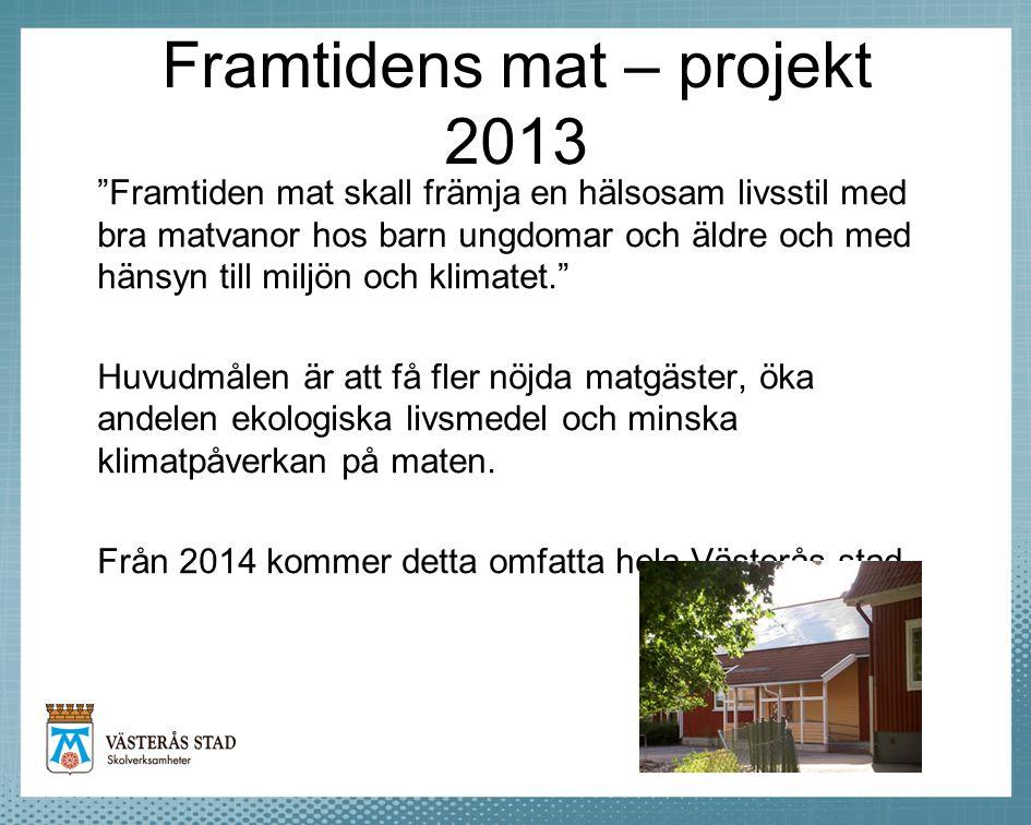Framtidens mat – projekt 2013