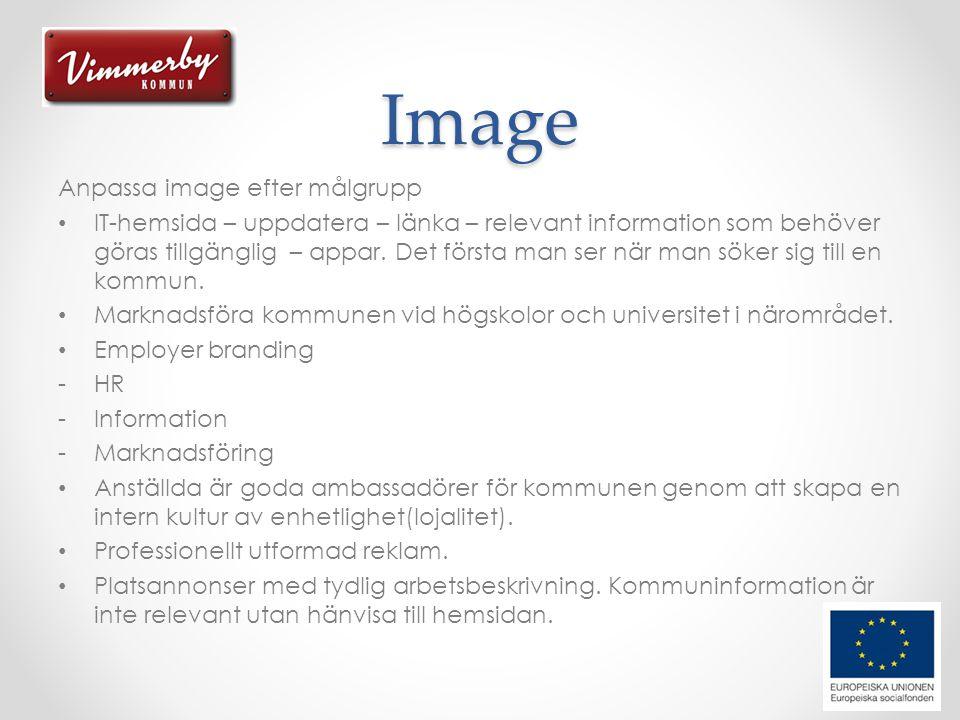 Image Anpassa image efter målgrupp