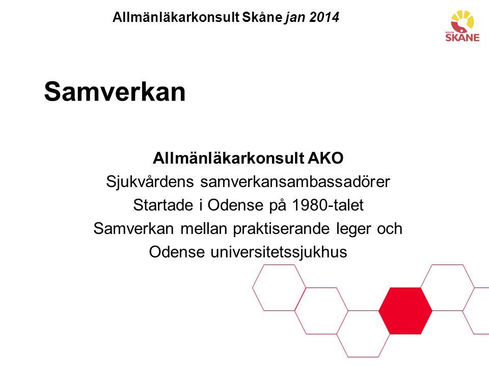 Allmänläkarkonsult Skåne jan 2014 Allmänläkarkonsult AKO