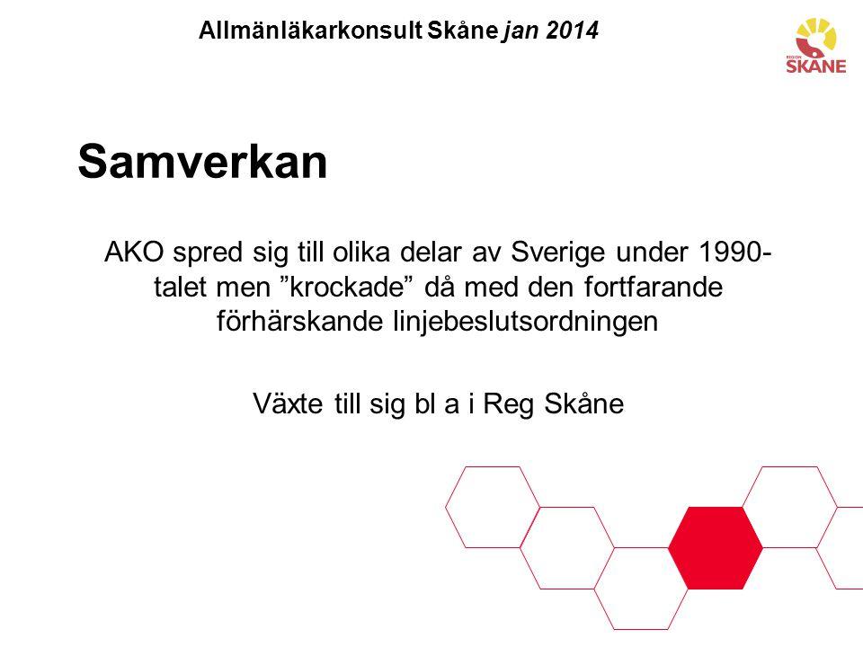 Allmänläkarkonsult Skåne jan 2014