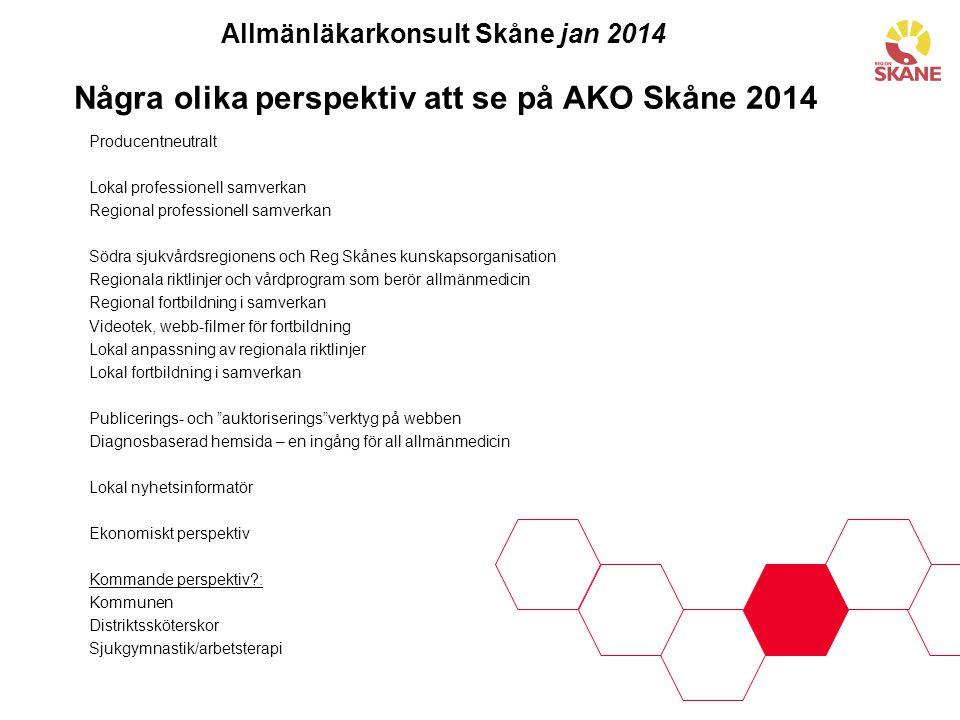 Några olika perspektiv att se på AKO Skåne 2014