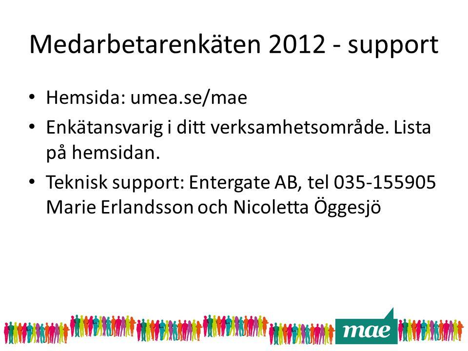 Medarbetarenkäten 2012 - support