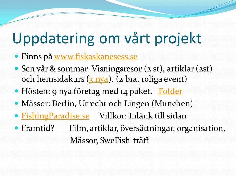 Uppdatering om vårt projekt