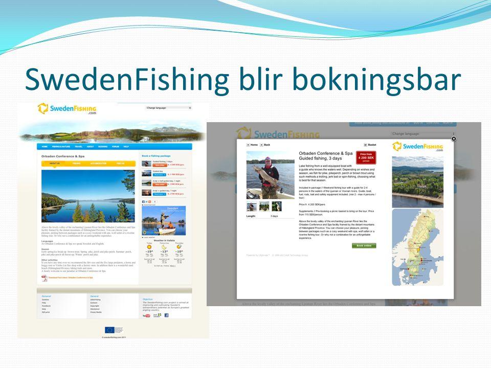 SwedenFishing blir bokningsbar
