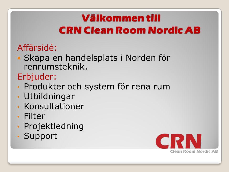Välkommen till CRN Clean Room Nordic AB