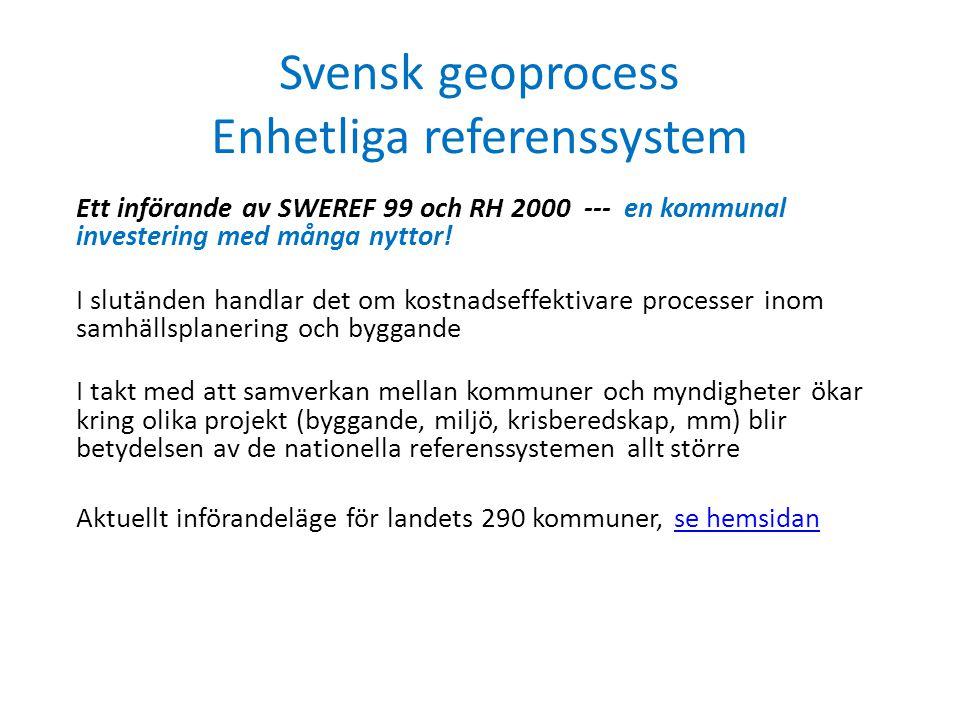 Svensk geoprocess Enhetliga referenssystem