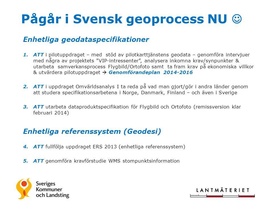Pågår i Svensk geoprocess NU 