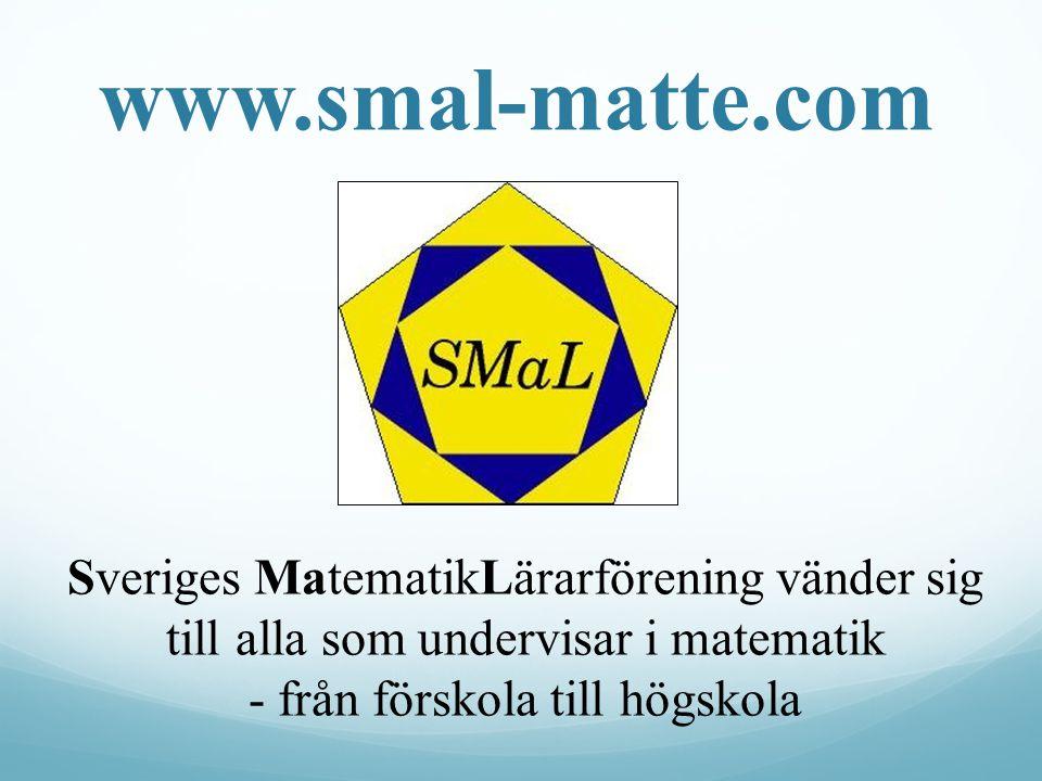 www.smal-matte.com Unik med bara Ma, inga andra ämnen.