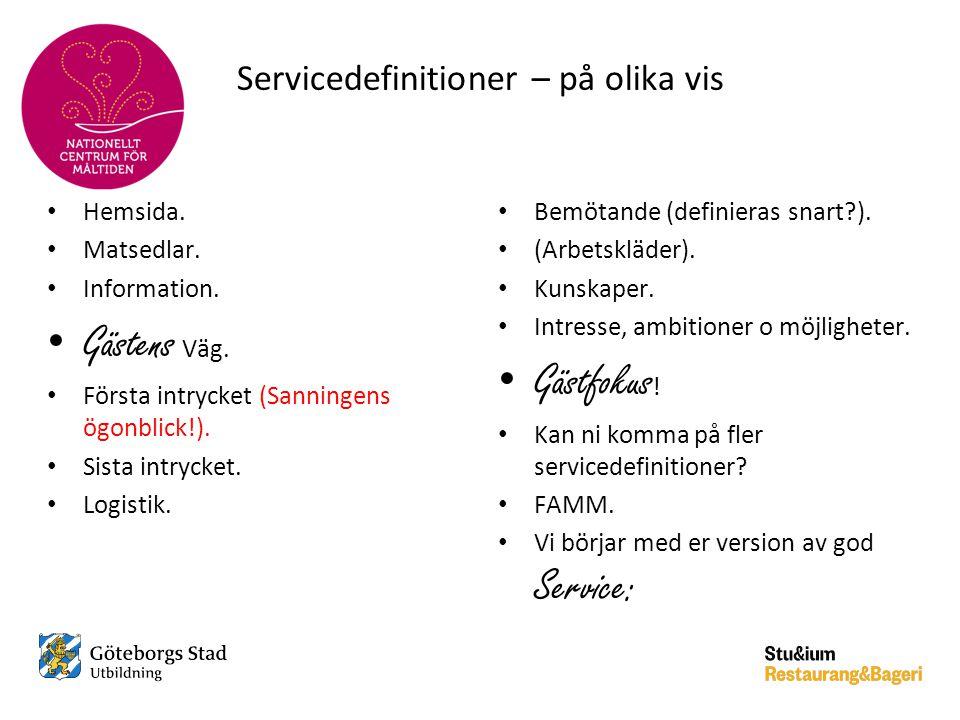 Servicedefinitioner – på olika vis