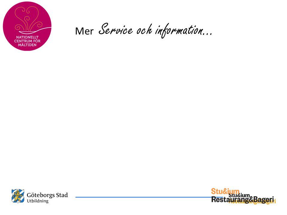 Mer Service och information…