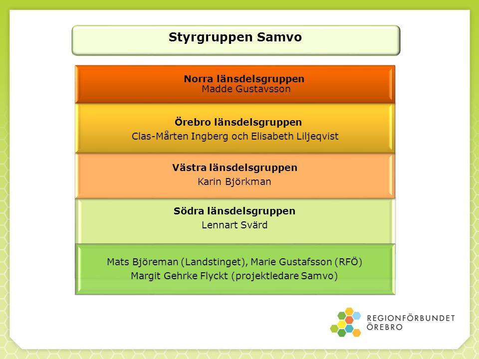 Örebro länsdelsgruppen Västra länsdelsgruppen Södra länsdelsgruppen