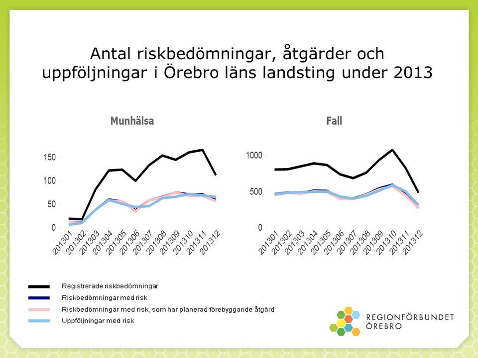 Antal riskbedömningar, åtgärder och uppföljningar i Örebro läns landsting under 2013