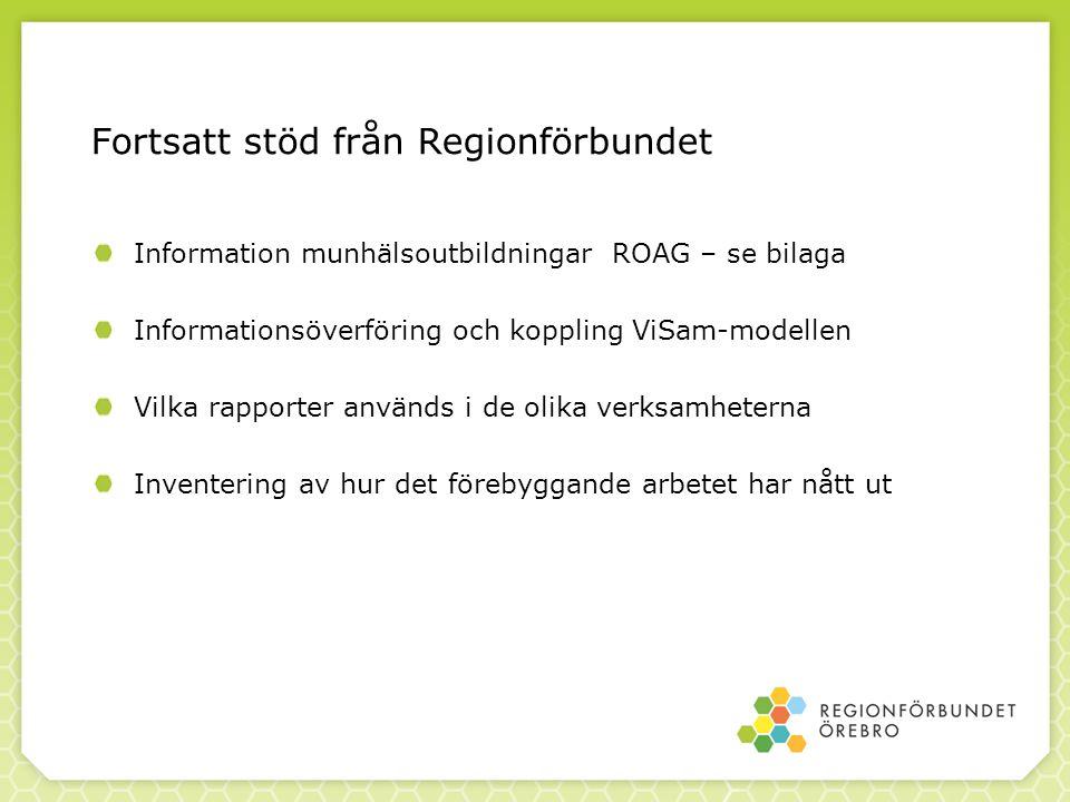 Fortsatt stöd från Regionförbundet
