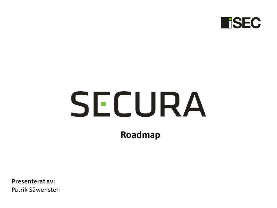 Roadmap Presenterat av: Patrik Säwensten