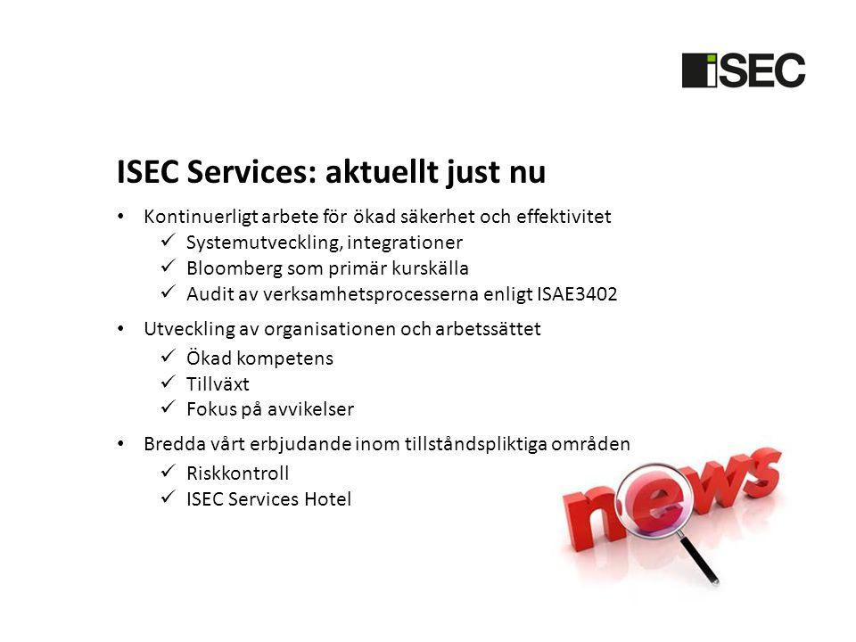 ISEC Services: aktuellt just nu