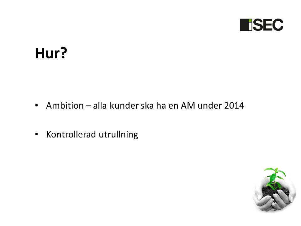 Hur Ambition – alla kunder ska ha en AM under 2014