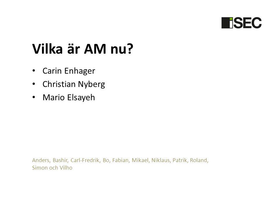 Vilka är AM nu Carin Enhager Christian Nyberg Mario Elsayeh