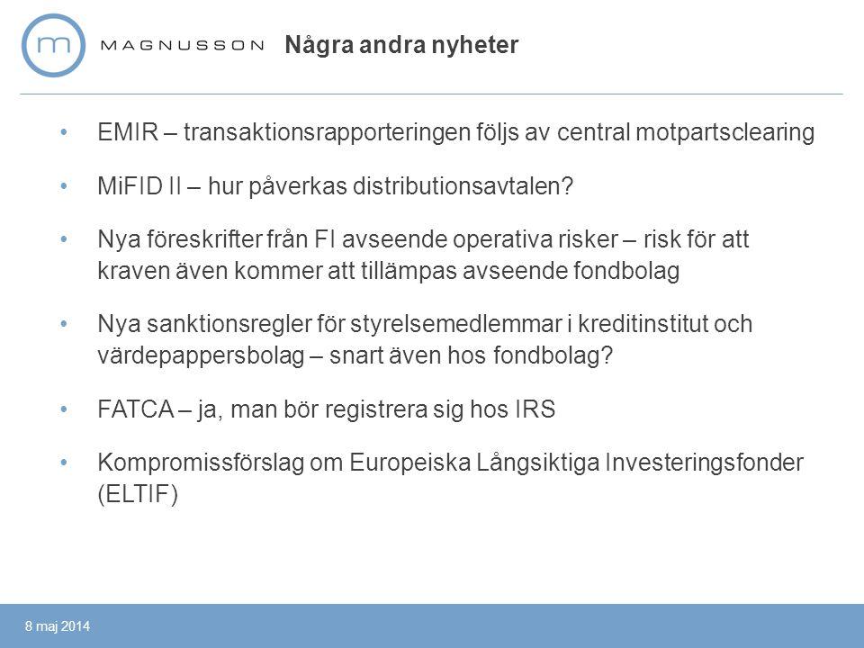 EMIR – transaktionsrapporteringen följs av central motpartsclearing