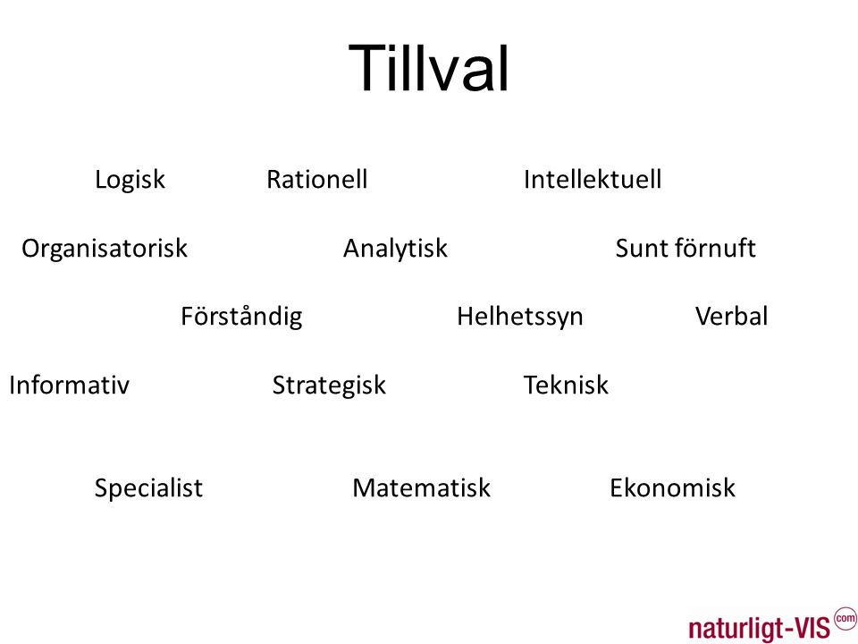 Tillval Logisk Rationell Intellektuell
