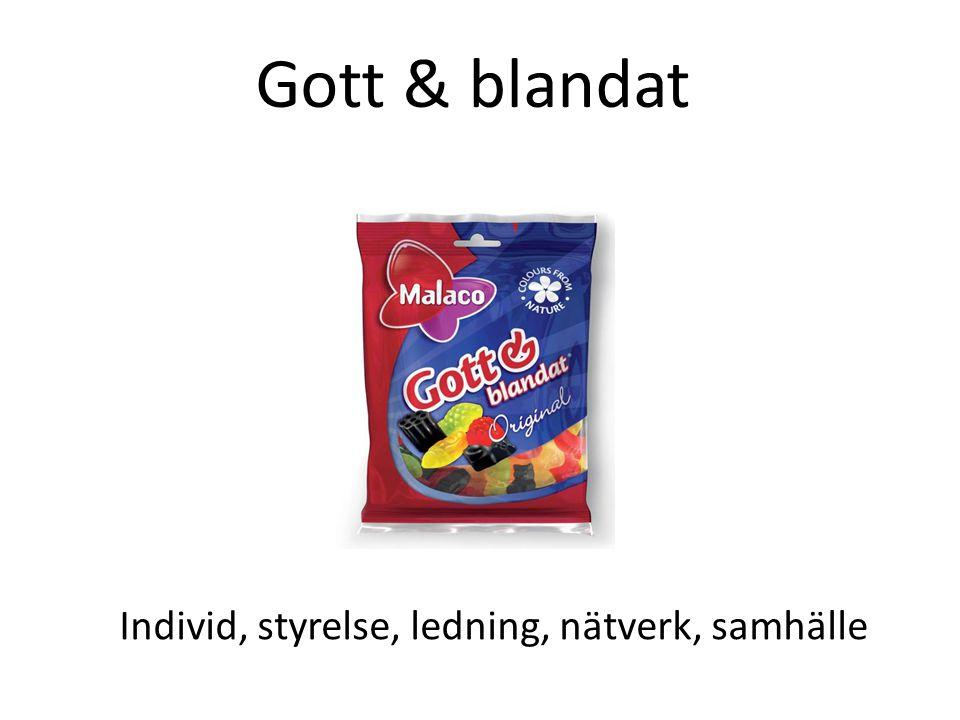 Gott & blandat Individ, styrelse, ledning, nätverk, samhälle
