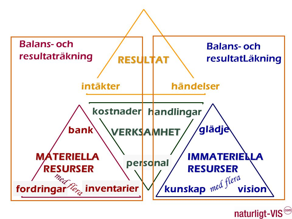 Balans- och resultaträkning. Balans- och. resultatLäkning. RESULTAT. intäkter. händelser. kostnader.