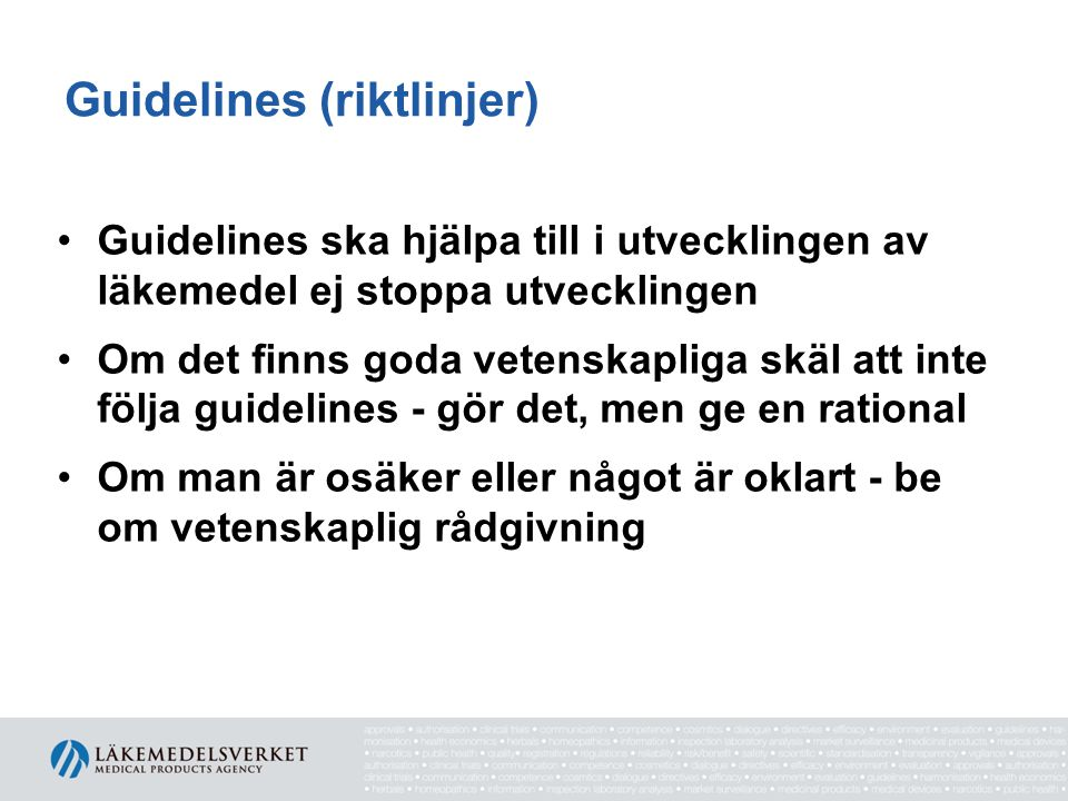 Guidelines (riktlinjer)