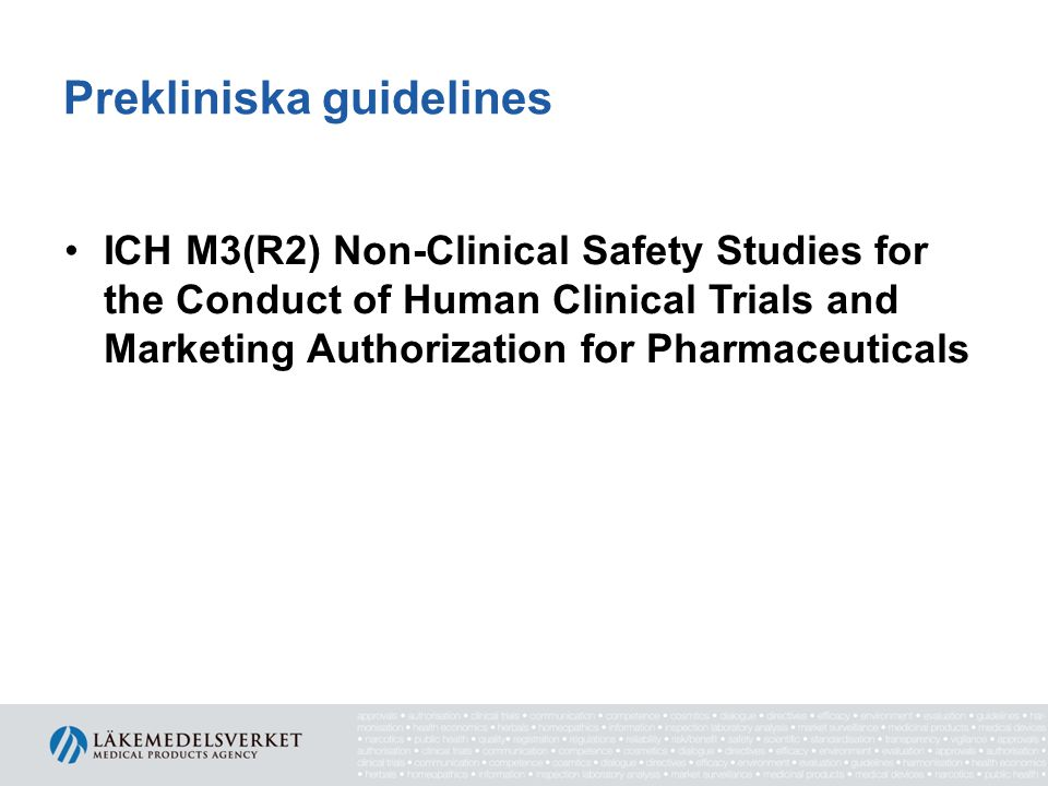 Prekliniska guidelines