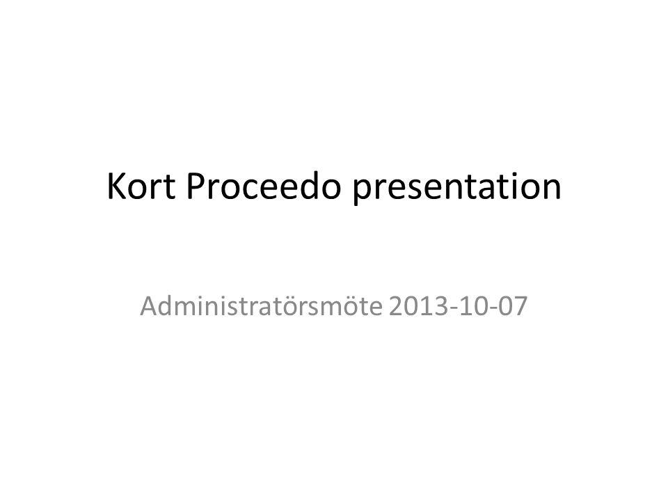Kort Proceedo presentation