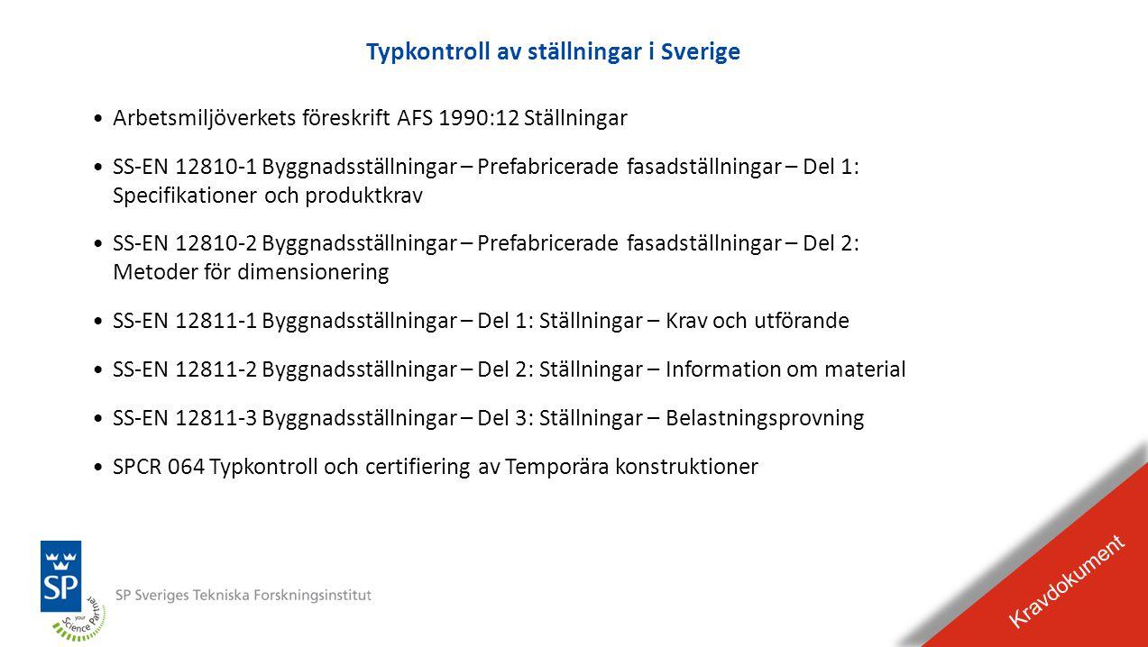 Typkontroll av ställningar i Sverige